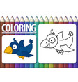 album horizontal page for coloring with contour vector image vector image