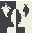 Angels and demons choice vector image
