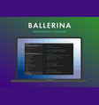 ballerina programming language vector image vector image
