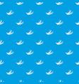 banana peel pattern seamless blue vector image vector image