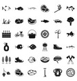 bbq in nature icons set simple style vector image vector image