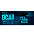 bcaa container with hi-tech background vector image