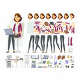 businesswoman - cartoon people character vector image