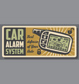 car alarm ans auto security systems service poster vector image