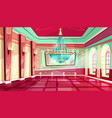cartoon castle palace ballroom background vector image vector image