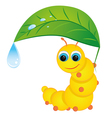 caterpillar with leaf vector image vector image