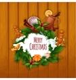 Christmas gift invitation vector image vector image