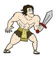 comic cartoon fantasy hero man vector image vector image