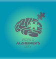 creative poster or banner of world alzheimers day vector image