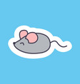 cute banner with small mouse vector image