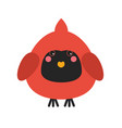 cute cardinal bird icon vector image vector image