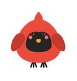 cute cardinal bird icon vector image vector image