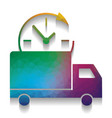 delivery sign colorful icon vector image