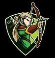 elves archer mascot vector image vector image