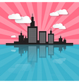 Evening - Morning City Scape vector image vector image