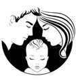 family parents with a baby vector image vector image