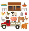 farm icon nature food vector image vector image