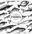 fish seamless pattern can be use for vector image vector image