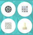 flat icon entertainment set of arrow pawn vector image vector image