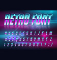 font style 80 s vector image vector image