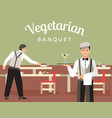 french restaurant flat banner template vector image vector image