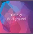 galaxy background vector image vector image