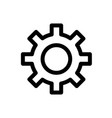 gear line icon flat graphic on isolated background vector image vector image