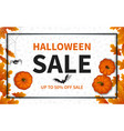 halloween sale composition 04 vector image vector image