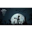 Halloween zombie background vector image