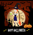 happy halloween template invitation cards with vector image