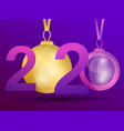 happy new year 2020 greeting card design template vector image vector image