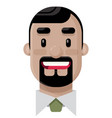 happy young man with a dark goatee flat ill vector image vector image