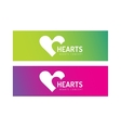 Hearts icon logo together vector image vector image