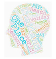 Holiday In Thailand text background wordcloud vector image vector image