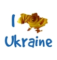 I love Ukraine Stylish for t vector image