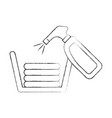 laundry basket with clothes and spray vector image vector image
