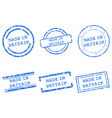 Made in Britain stamps vector image