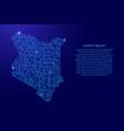 map kenya from printed board chip and radio vector image vector image