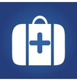 medical icon on blue background - Medical bag vector image