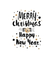 Merry Christmas Happy New Year card template vector image vector image