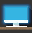 Modern personal computer flat design Layout for a vector image vector image