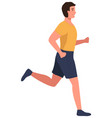 muscular young man in sports wear running or vector image vector image