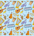 Musical instruments doodle rseamless pattern vector image