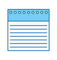 notebook sheet isolated icon vector image