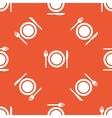 Orange dishware pattern vector image vector image