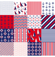 pattern with nautical elements vector image vector image