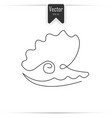 pearl shell shell icon one line vector image vector image