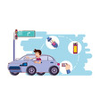 Person driving for driver safely campaign vector image