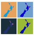 pop art map of newzealand vector image vector image