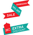 ramadan sale bannerdiscount and best offer tag vector image vector image